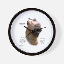 Tawny Briard Wall Clock