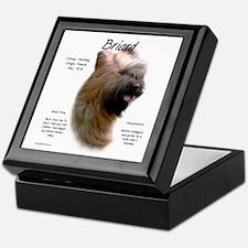 Tawny Briard Keepsake Box