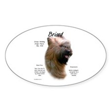 Tawny Briard Oval Decal