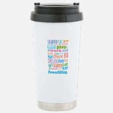 Powerlifting Stainless Steel Travel Mug