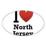 i love north jersey.png Sticker (Oval 50 pk)