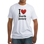 i love north jersey.png Fitted T-Shirt