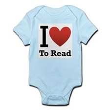 i love to read.png Infant Bodysuit