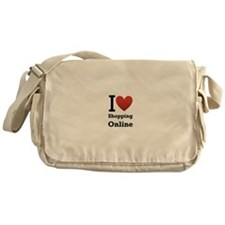 i love shopping online.png Messenger Bag