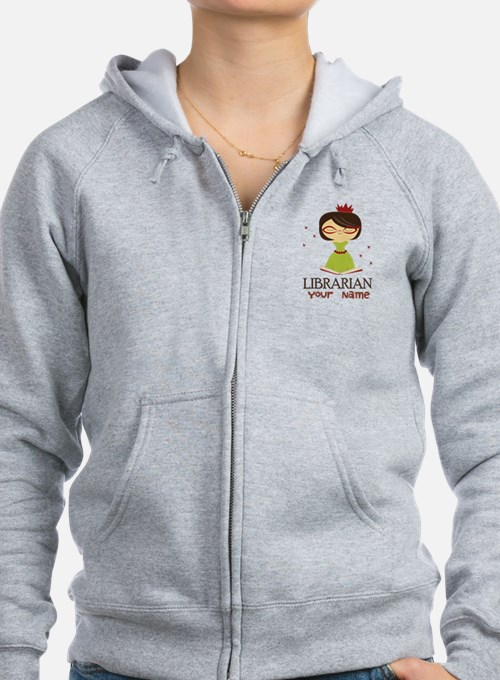 Personalized Library Lady Zip Hoodie