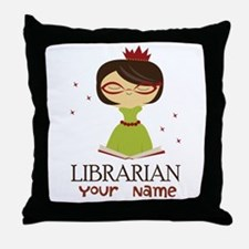Personalized Library Lady Throw Pillow