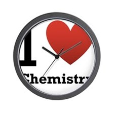 i-love-chemistry.png Wall Clock
