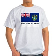 Flag of The Pitcairn Islands Ash Grey T-Shirt