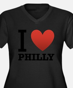 i-love-philly.png Women's Plus Size V-Neck Dark T-