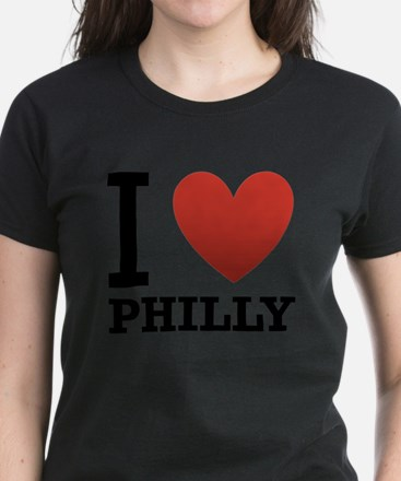 i-love-philly.png Women's Dark T-Shirt