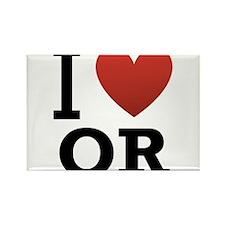 I-Love-Oregon.png Rectangle Magnet (10 pack)