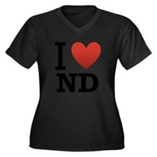 I-love-North-Dakota.png Women's Plus Size V-Neck D