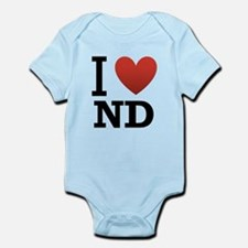 I-love-North-Dakota.png Infant Bodysuit