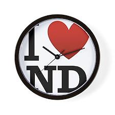 I-love-North-Dakota.png Wall Clock