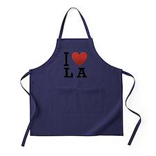 i-love-la.png Apron (dark)