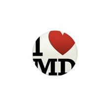 i-love-md.png Mini Button (100 pack)