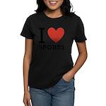 I Love Sports Women's Dark T-Shirt