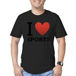 I Love Sports Men's Fitted T-Shirt (dark)