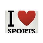 I Love Sports Rectangle Magnet (10 pack)
