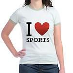 I Love Sports Jr. Ringer T-Shirt