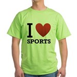 I Love Sports Green T-Shirt