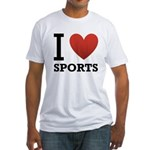 I Love Sports Fitted T-Shirt