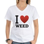 i-love-weed.png Women's V-Neck T-Shirt