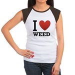 i-love-weed.png Women's Cap Sleeve T-Shirt