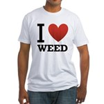 i-love-weed.png Fitted T-Shirt