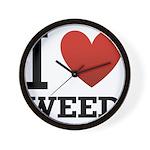 i-love-weed.png Wall Clock