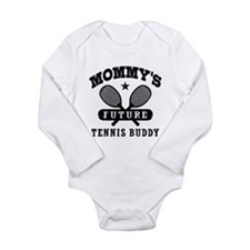 Mommy's Future Tennis Buddy Long Sleeve Infant Bod