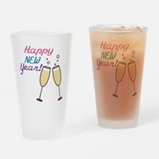Happy New Year Drinking Glass