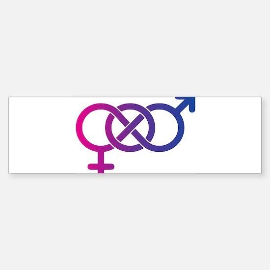 Bi Pride Multicolor Logo Sticker (Bumper)