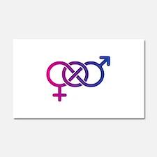 Bi Pride Multicolor Logo Car Magnet 20 x 12