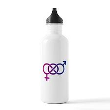 Bi Pride Multicolor Logo Water Bottle