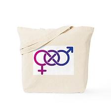 Bi Pride Multicolor Logo Tote Bag