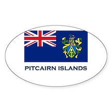 The Pitcairn Islands Flag Gear Oval Decal