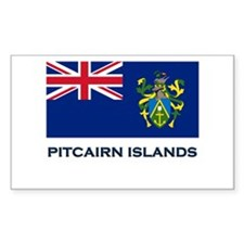 The Pitcairn Islands Flag Gear Sticker (Rectangula
