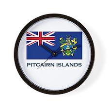 The Pitcairn Islands Flag Gear Wall Clock