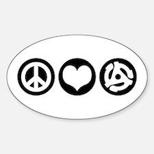 Peace Love 45 Decal