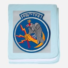 496th Tactical fighter Sq. baby blanket