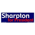 Sharpton for President (bumper sticker)