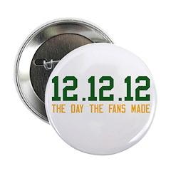"""Green & Gold 12.12.12 2.25"""" Button"""