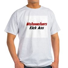 Dishwashers Kick Ass Ash Grey T-Shirt