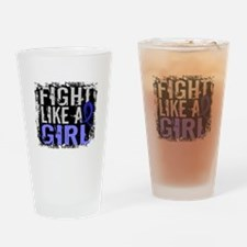 Licensed Fight Like a Girl 31.8 AS Drinking Glass