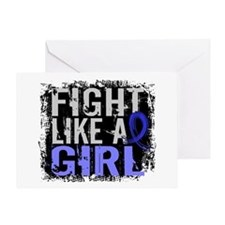 Licensed Fight Like a Girl 31.8 AS Greeting Card