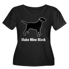 BlkMakeMineTrans Plus Size T-Shirt