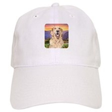 Golden Retriever Meadow Baseball Cap