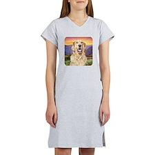 Golden Retriever Meadow Women's Nightshirt