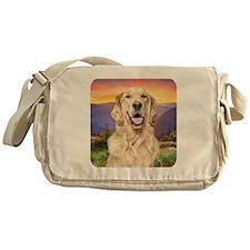 Golden Retriever Meadow Messenger Bag